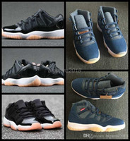 Wholesale coral cushions - 2018 New 11 XI Men Basketball Shoes Denim Jeans Blue Bleached Coral 11s Sneakers Mens Trainers designer jumPMAn Zapatos Brand Sports Shoes