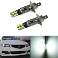 Wholesale Replacement Auto Lamps - YSY 2pcs lot H3 H1 24 SMD 4014 LED Chips 24SMD Auto Canbus Car Driving Fog Lights DRL Replacement Lamps 12V