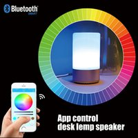 Wholesale Control Seal - APP Control Intelligent Touch Sensor Colorful Night Light Bluetooth 4.2 Speaker TF Card MP3 Player Alarm Clock Function Lamp