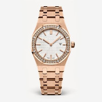 Wholesale rose gold diamond bracelet - 2018 New Fashion Style Women Watch Lady Watch With Big Dial Rose Gold Diamond Steel Bracelet Luxury Watch High Quality relogies for women