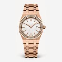 964bba53d61 2018 novo estilo de moda mulheres assista lady watch com grande dial subiu  ouro diamante pulseira de aço relógio de luxo de alta qualidade relogies  para as ...