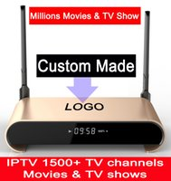 Wholesale Disk Watch - Custom Made Free IPTV 2GB 16GB Sata Hard Disk 2TB S912 Octacore 5G WIFI Android7.1 TV box Watching Millions of Movies & TV Shows H2+ 20pcs