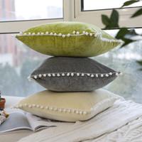 Wholesale velvet textiles for sale - Group buy Nordic Style Soft Pillow Case Lovely Velvet Comfortable Cushion Cover Home Textile Green White High Grade ym Ww