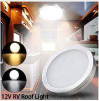 rv dolapları toptan satış-12 V 2 W Araba Iç Aydınlatma LED Aşağı Işık İç Çatı Tavan Işık Dolap Lambası Camper RV Römork VW T5 T6