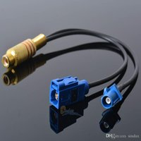 Wholesale Smb Adapter Connector - NEW RF Connector RCA female JACK to Y Fakra SMB Z 5021 male female Adapter RG174 Splitter Combiner cable Drop Shipping