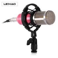 Wholesale wholesale pro audio - Professional Leihao BM-800 Condenser Microphone BM 800 Cardioid Pro Audio Vocal Recording Mic+Standing holder