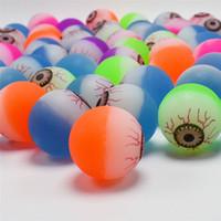 ingrosso ragazze gonfiabili palle-Multicolor Kids 30mm Bouncy Balls bulbo oculare modello mini giocattoli di rimbalzo promozione delle vendite bambini regali a buon mercato contorto uovo Capsule giocattoli regali