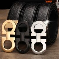 ceinture en cuir faux cuir achat en gros de-2018 designer ceintures ceintures de luxe pour hommes boucle de ceinture top mode ceintures en cuir mens gros livraison gratuite