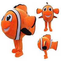 ingrosso avvolgere la pubblicità-Costume della mascotte del pesce Vestito da partito operato da Halloween