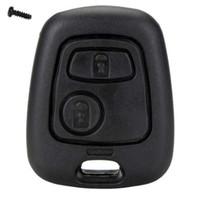 caso clave para citroen c4 al por mayor-2 botones de la caja del Fob de la llave del coche de la llave remota de repuesto para Citroen C1 C2 C3 C4 XSARA Picasso Peugeot 107 207 307 D05
