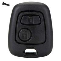 araba uzaktan kumandaları için yedek düğmeler toptan satış-2 Düğme Uzaktan Anahtar Araba Anahtarlık Durumda Değiştirme Kabuk Kapak Citroen için C1 C2 C3 C4 XSARA Picasso Peugeot 107 207 307 D05