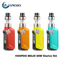 Wholesale ecigarette starter - Authentic Voopoo Mojo 88W Starter Kit 2600mAh Lipo Portable Vape Mod Kits ecigarette with 3.5ml Uforce Tank