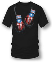 ingrosso pugile metallico-New Funny Brand Abbigliamento Puerto Rico Boxer Shirt, Puerto Rico Pride Wicked Metal
