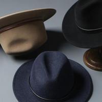 gelbe baskenmützen großhandel-Luxus-Hut für Herren Herbst Winter Wolle Herren Hut Englisch Filzhüte Sir Hüte heiße Art