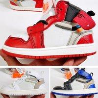 gençlik çocukları basketbol ayakkabıları toptan satış-Okulöncesi Ortak Yüksek İmzalı 1 KG Gençlik Çocuklar Basketbol Ayakkabıları Chicago Yeni Doğan Bebek Bebek Yürüyor Eğitmenler Küçük Büyük Erkek Kız Sneakers