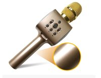 micrófonos dirigidos al por mayor-Teléfono móvil canción en vivo, micrófono en vivo, canción universal, micrófono inalámbrico Bluetooth directo de fábrica tipo de micrófono bobina móvil