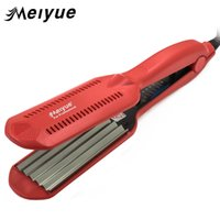 Wholesale hair curler temperature resale online - Temperature Control Corrugated Curling Hair Straightener Crimper Fluffy Small Waves Hair Curlers Curling Irons Styling Tools