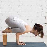 hochdichte schaumblöcke großhandel-Yoga Blöcke Yoga Bambus Übung Blöcke Unterstützung Bricks für bessere Positionen Stretching Yogi Zubehör Wholesale Freies Verschiffen