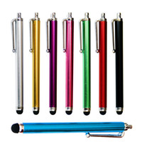 Wholesale iphone fedex for sale – best 9 touch Screen pen Metal Capacitive Screen Stylus Pens Touch Pen For Samsung Iphone Cell Phone Tablet PC Colors Fedex DHL Free