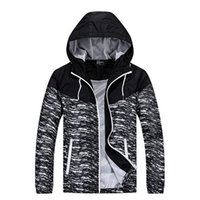 Wholesale Mens Overcoat Spring - Brand Designer Luxury Mens Jackets Fashion Zipper Contrast Coats Sportswear Overcoat High Quality Spring Outerwear Plus Size