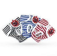Wholesale cute jackets for spring resale online - Cute Female Dog Diaper Washable Reusable Cotton Pet Diaper Adjustable Pet Physical Pant Sanitary Panties for Small Medium Dogs