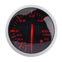 rennlehren großhandel-VODOOL Universal Rennwagen Turbo Boost Gauge 60mm 2,5 in Weiß + Rot Licht Meter Racing Gauge mit Sensor