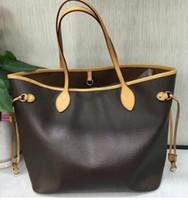 hochwertige handtaschen großhandel-AAA + Original 2018 freies schiff NIEMALS VOLLE rindsleder handtaschen farbe leder einkaufstasche Nie einzelne umhängetasche