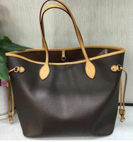 Wholesale high cell for sale - Group buy Free hot stamping high quality free ship NEVER shoul FULL cowhide eather handbags color leather shopping bag Never single shoulder bag