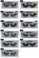 Wholesale new stocking styles - 120 pair New 3D Mink Eyelashes Eyelashes Messy Eye lash Extension Sexy Eyelash Full Strip Eye Lashes 11 styles in stock