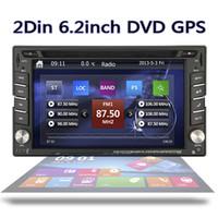 gps bluetooth 2din großhandel-6,2 Zoll eingebaute GPS-Navigation Auto headunit doppeltes 2DIN im Schlag-Stereoauto DVD CD-Spieler bluetooth iPod-Radio-Autoeinheit