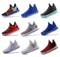 Wholesale kd shoes red white - New Air KD Basketball Shoes 2017 Top quality KD 10 Oreo Be True UniversIty Red White Chrome Kevin Durant Outdoor Sneakers Sports Shoes