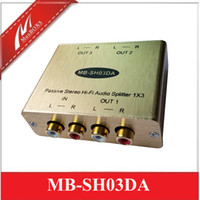 Wholesale hi fi gold for sale - Group buy Passive Stereo Hi Fi Audio Isolation Splitter Audio spltter stereo audio distributor