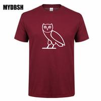 Wholesale owl sleeves - OWL OVOXO Swag Hip-hop Men Tshirts European American New Men's Short Sleeve T-shirt 100% Cotton Boy T shirt Hombre Tops
