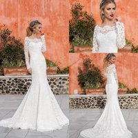Vintage wedding dress cover ups nz buy new vintage wedding dress 2018 romantic full lace long sleeves wedding dresses mermaid bateau neck sweep train lace up bridal gowns with sleeves covered buttons junglespirit Images