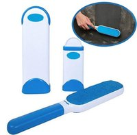 Wholesale Wholesale Rakes - Pet Dog Cat Fur and Lint Remover With Self-Cleaning Base Double-Sided Brush Removes from Clothes Furniture CCA8605 20pcs
