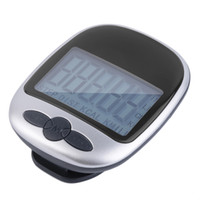 мини цифровой счетчик шагов оптовых-Mini LCD Pedometer Calorie Walking Running Jogging Walking Distance Calculation Digital Counter Running Jogging Step