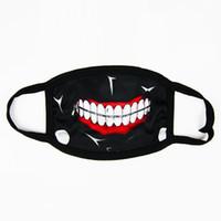 boca livre halloween máscara venda por atacado-Tokyo Ghoul Kaneki Ken Horror Máscara Cosplay Halloween, Inverno Anti-Poeira de Algodão Engraçado Máscara Facial Quente Mousse Muffle DHL Fedex Frete Grátis