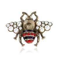 ingrosso piastre d'api-OL moda donna gioielli in oro placcato strass perla ape anello per ragazze donne per il partito anello bel regalo