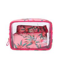 ingrosso sacchetti di pvc-VS Brand 3 in 1 Sacchetto cosmetico Sacchetto di trucco multifunzionale ad alta capacità Borsa portatile da viaggio impermeabile per le donne Trasporto di goccia