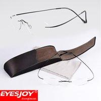 Wholesale black art work - Silhouette Titanium Eyeglasses Frames Original Brand Designer Glasses Men Women Rimless Oval Frame Eyewear Arts Ultra Clear Lenses SLH M7428