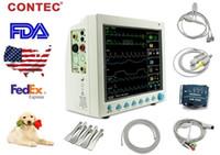 Wholesale machine monitoring resale online - CE FDA Contec CMS8000 quot ICU CCU Vet Multi parameter Veterinary Patient Monitor for Animals MultiPara Medical Holter Machine