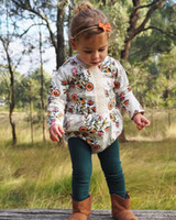 Wholesale class printing online - Floral Rompers Long Sleeve Lace Class B Baby Girls Jumpsuits Flowers Cartoon Printed Bodysuits Polyester Blending Spring Autumn M