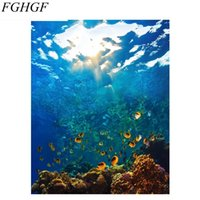 Wholesale art modern painting acrylic for sale - Group buy FGHGF The Underwater World DIY Painting By Numbers Kits Acrylic Paint On Canvas Painting Modern Wall Art For Home Decor Art