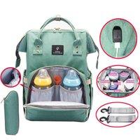 Wholesale Interface Travel - Baby Diaper Bag USB Interface Large Capacity Waterproof Nappy Bag Kits Maternity Travel Backpack Nursing Handbag Baby Care Bag for Stroller