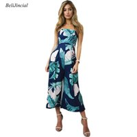 Wholesale Floral Strapless Jumpsuit - Women Sexy Casual Holiday Beach Jumpsuits Strapless Sleeveless Floral Print Long Type Siamese Pants Female Loose Daily Jumpsuits
