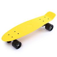 Wholesale skateboard decks online - 22 inch Four wheel Long Skateboard Retro Style PP Board Deck Retro Style Plastic Board100 Virgin Polycarbonate plastics deck