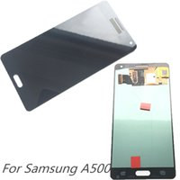 Wholesale Super Lcd - Super AMOLED LCD Display 100% Tested Working Touch Screen Assembly For Samsung Galaxy A5 2015 A500 A500F A500FU A500H A500M DHL logistics