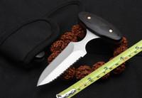 holzgriff jagdmesser großhandel-Messer der klassischen hölzernen Handgriffstoßmesserrand-Selbstverteidigung taktisches Jagdmesser des Messers im Freien freies Verschiffen