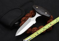 facas de caça de punho de madeira venda por atacado-Punho de madeira clássico push faca borda auto-defesa tático faca faca de caça ao ar livre frete grátis