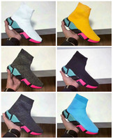 ingrosso boot parigi-2018 New Paris Luxury Sock Shoe Speed Scarpe da corsa Sneakers Speed Trainer Sock Race Runners Scarpe da uomo donna Stivali sportivi Spedizione gratuita